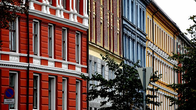 Fargerikt i Gamle Oslo