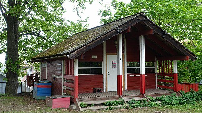 Ål-hytta i Telthusbakken, en av parkene som er ført på Gul liste