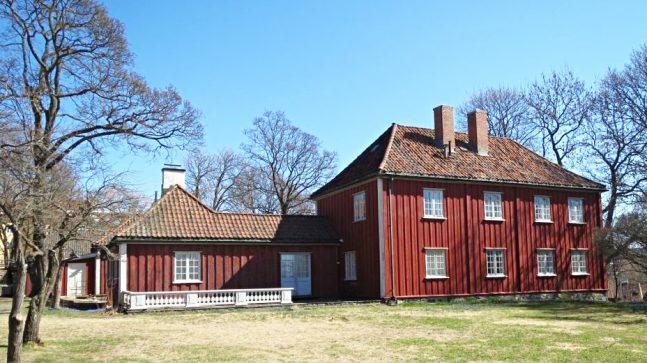 Hovedbygningen på Vøienvolden gård på Sagene.
