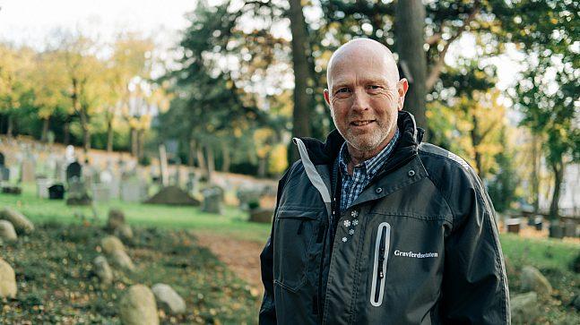 Erik André Foss i Gravferdsetaten er glad for å gi et godt tilbud til Oslos innbyggere
