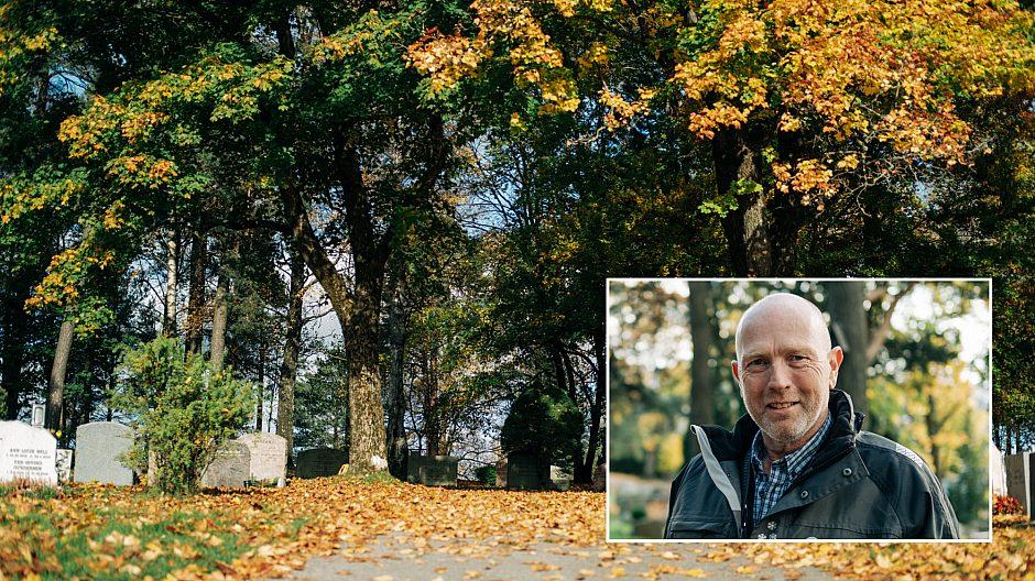 Grefsen kirkegård er en av dem. På innfelt bilde: Erik André Foss.