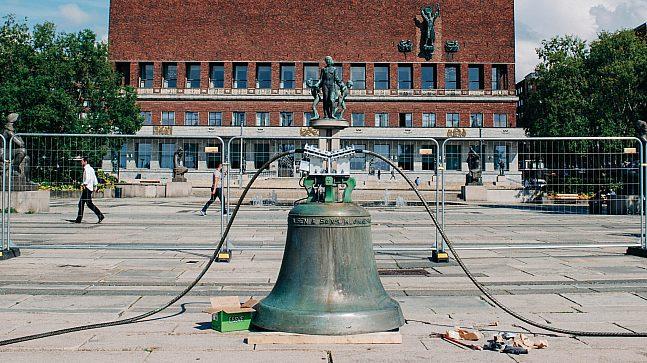 Untuned Bell skal henge ved Honnørbrygga i minst ti år.