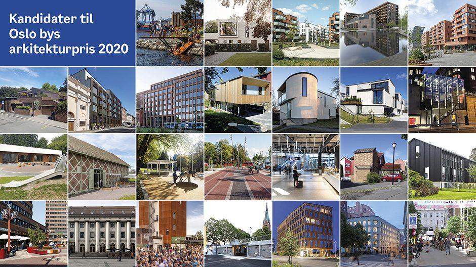 Ark prisen 2020 Collage av kandidater