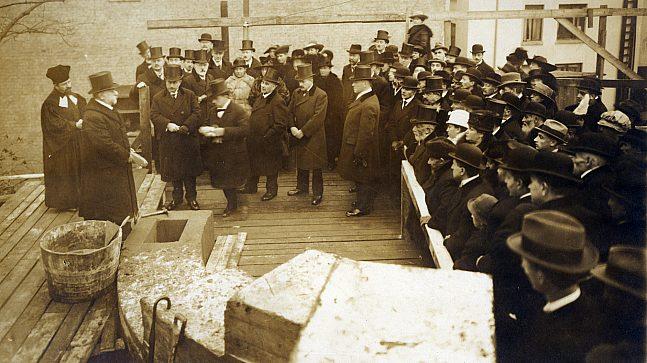 Grunnsteinnedleggelse Synagogen i Oslo