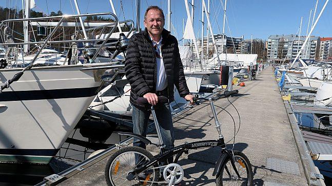 Frank Ivar Aarnes, styreleder for Bygdø Allé Båtforening, mener husbåter kan være en fin måte for folk å bo i byen uten bil.