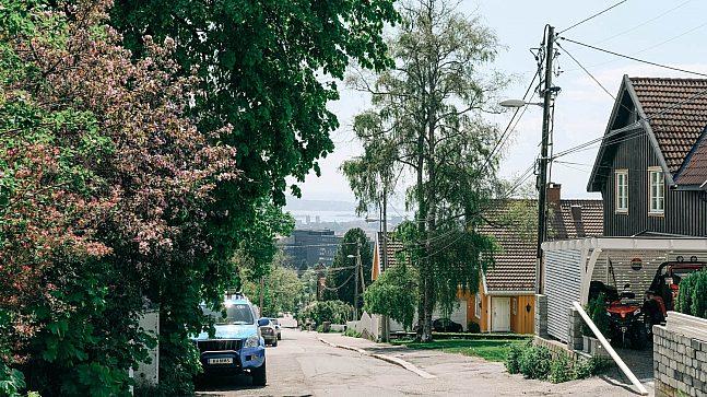 Et typisk småhusområde