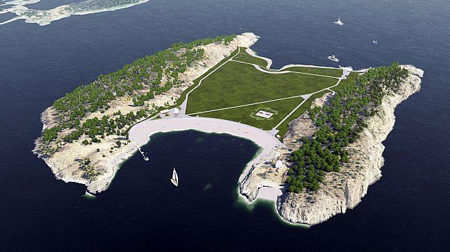 Nye veier etableres før åpning av Langøyene.