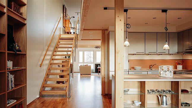 Her er et eksempel på hvordan en av leilighetene i Tambourgården ble inndelt og innredet.