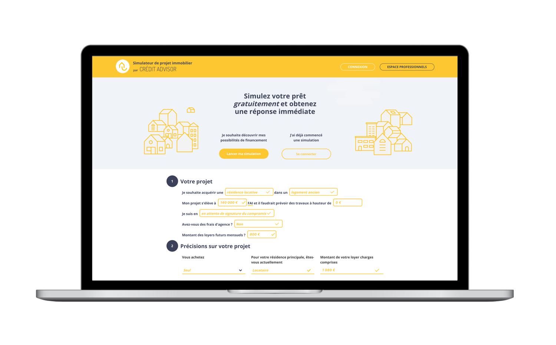 Simulation de crédit immobilier par CREDIT ADVISOR
