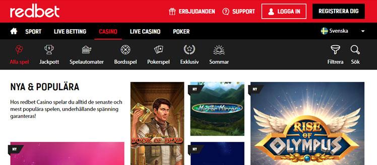 редбет казино играть