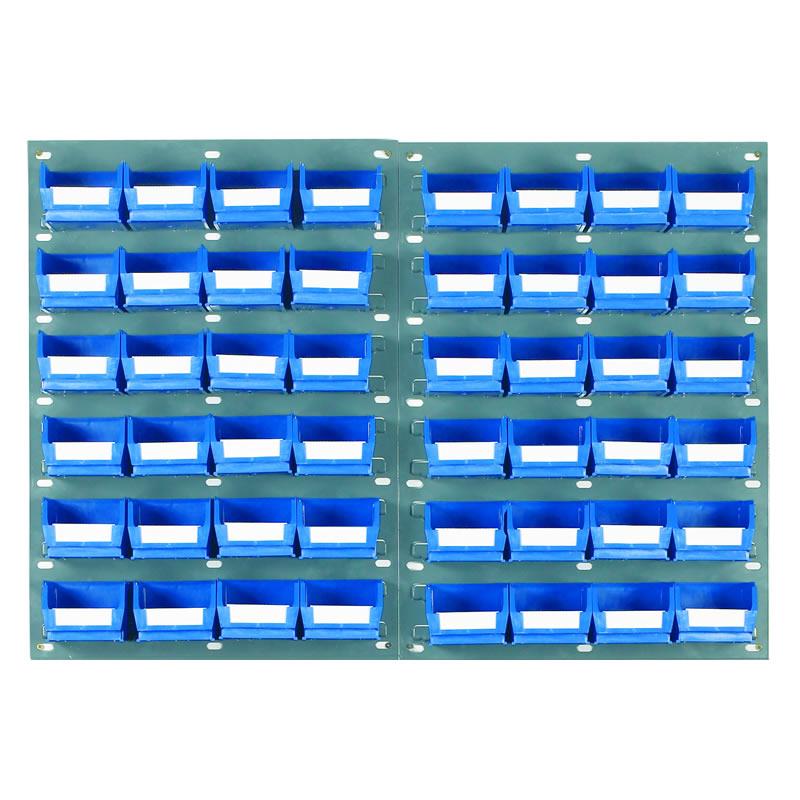 Wall Mounted Louvred Panel Kits with Barton Bins - 2 x Panels