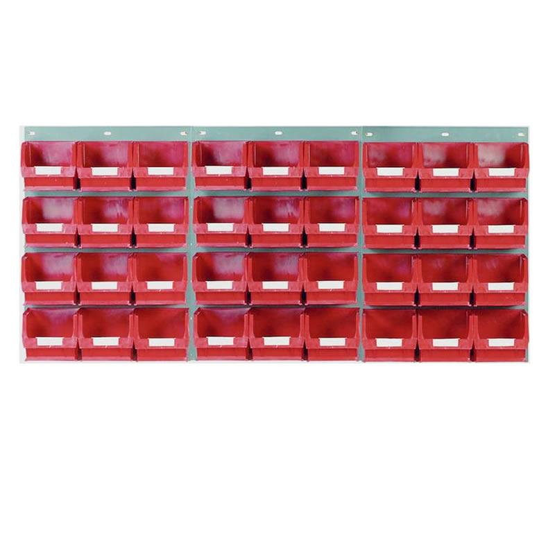 Wall Mounted Louvred Panel Kits with Barton Bins - 3 x Panels