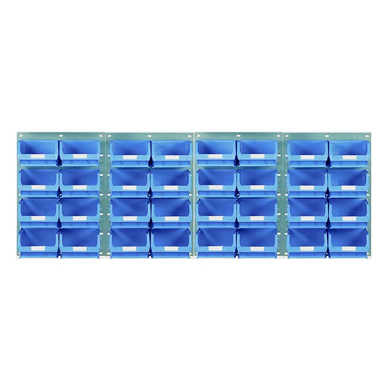 Wall Mounted Louvred Panel Kits with Barton Bins - 4 x Panels