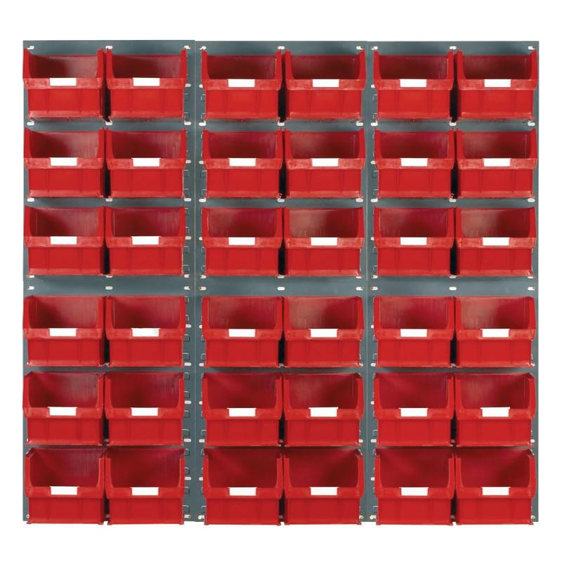 Wall Mounted Louvred Panel Kits with Barton Bins - 6 x Panels