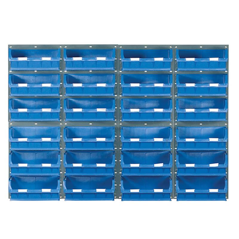 Wall Mounted Louvred Panel Kits with Barton Bins - 8 x Panels
