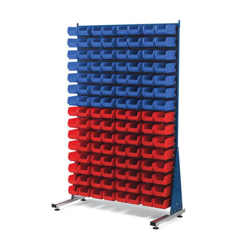 Single Sided Louvre Panel Racks - 120 x TC2 Bins