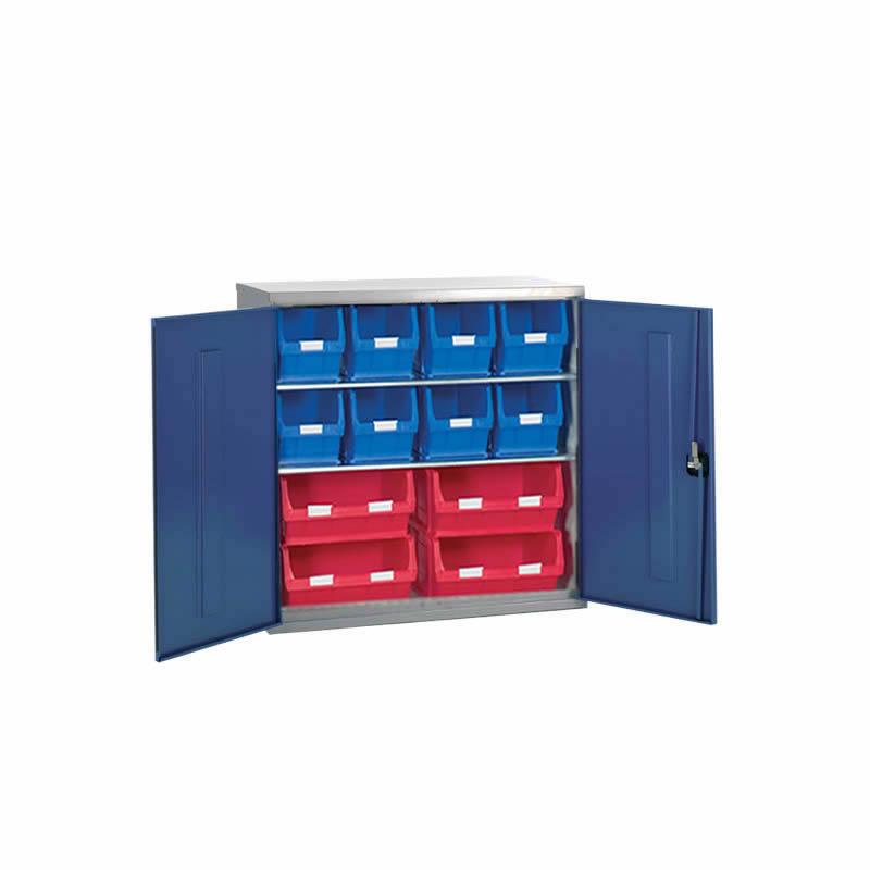 Container Cabinet - 4 x TC6, 8 x TC5 Bins - 2 Shelves