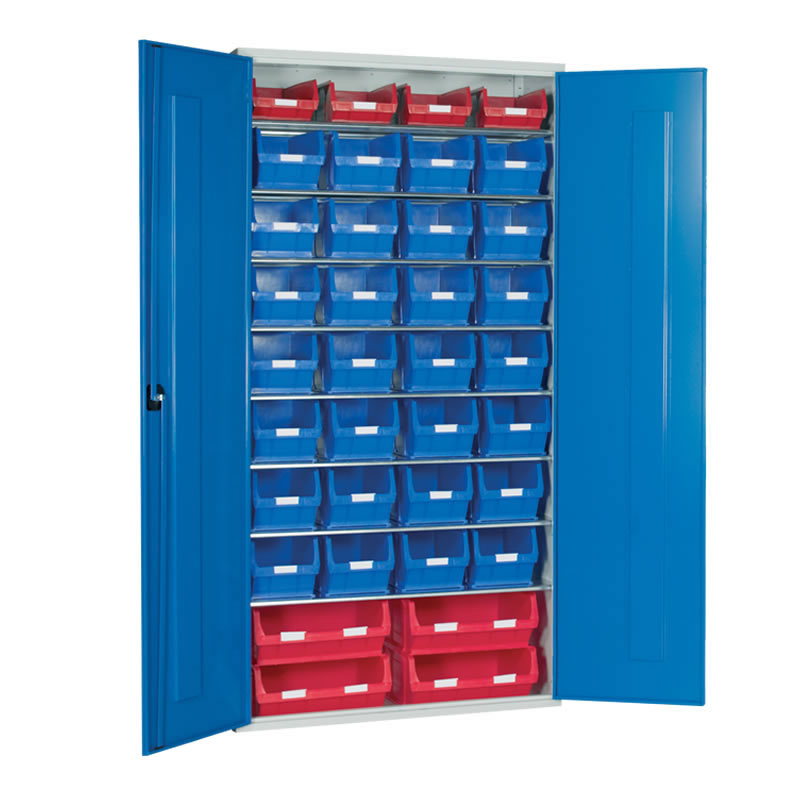 Container Cabinet - 4 x TC6, 28 x TC5, 4 x TC4 Bins