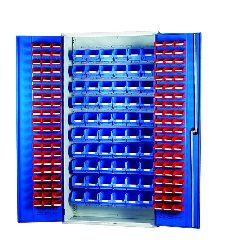 Louvred Panel Cabinets - 120 x TC1 and 60 x TC3 Bins