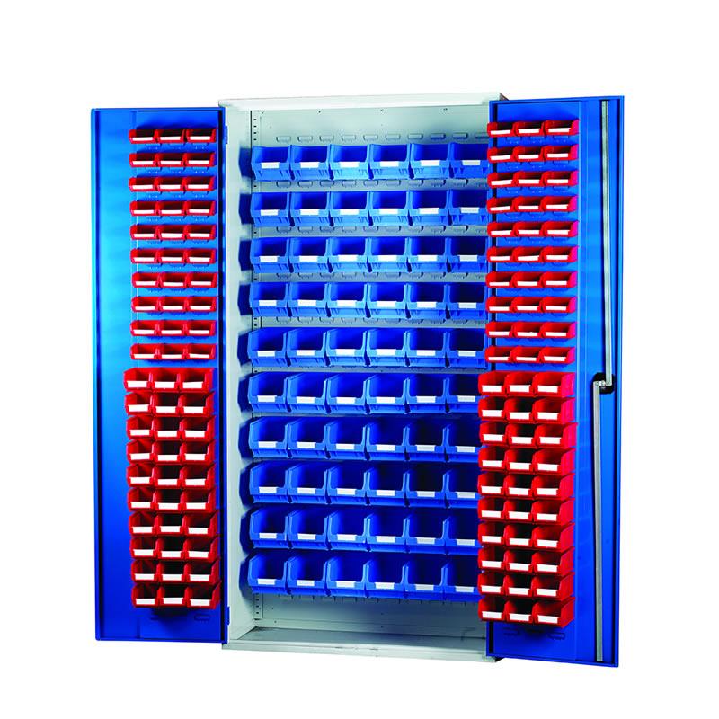 Louvred Panel Cabinets - 60 x TC1, 60 x TC2 and 60 x TC3 Bins