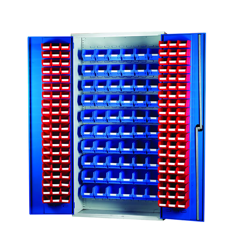 Louvred Panel Cabinets - 120 x TC2 and 60 x TC3 Bins