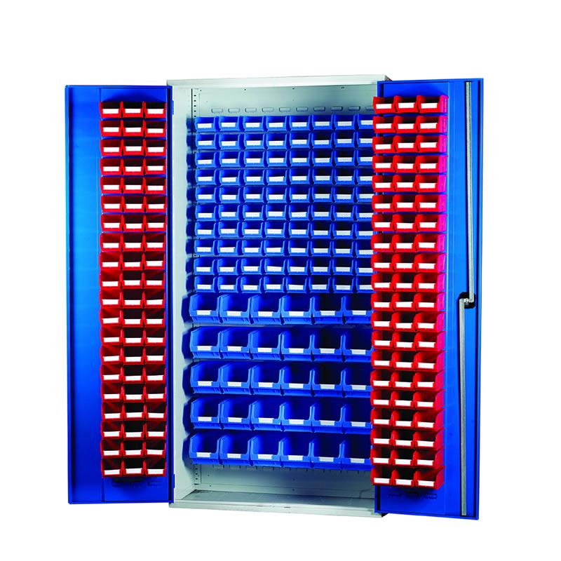Louvred Panel Cabinets - 120 x TC1, 80 x TC2 and 30 x TC3 Bins