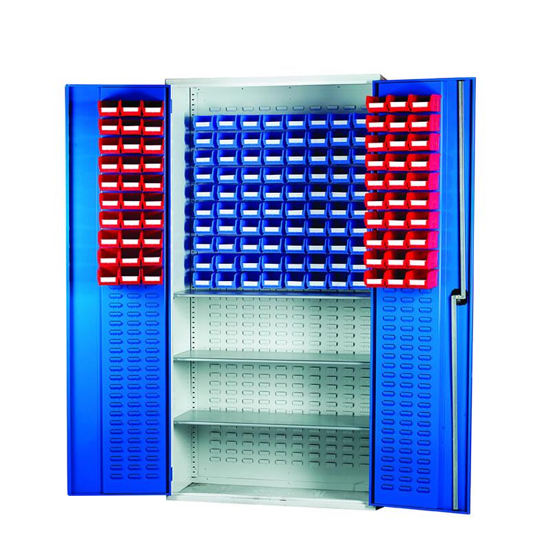 Louvred Panel Cabinets - 3 Shelves, 60 x TC1 and 80 x TC2 Bins