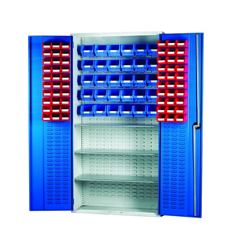 Louvred Panel Cabinets - 3 Shelves, 60 x TC2 and 30 x TC3 Bins