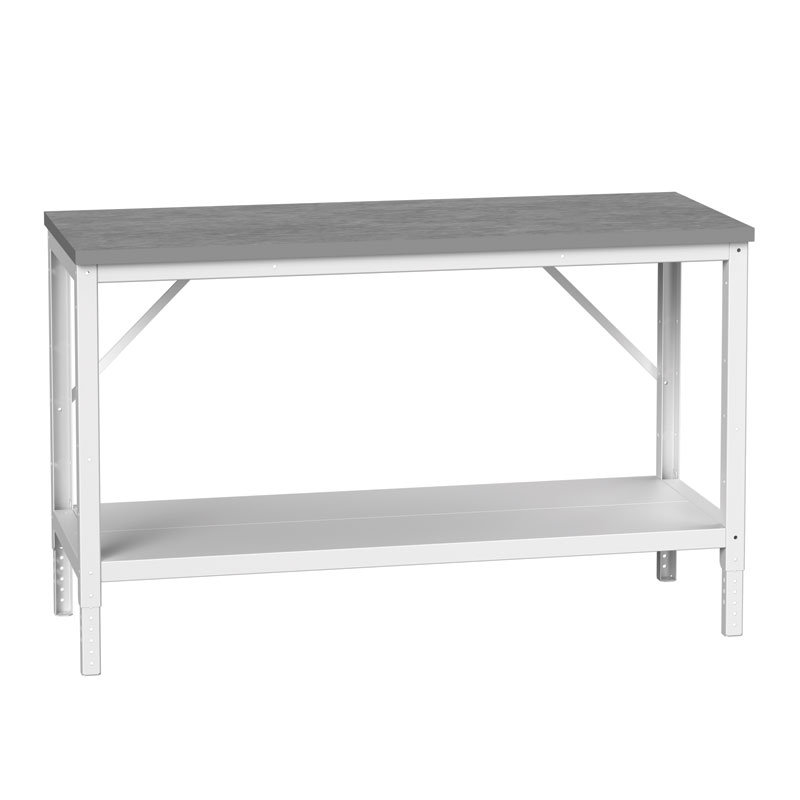Bench with Full Depth Shelf, 780mm High
