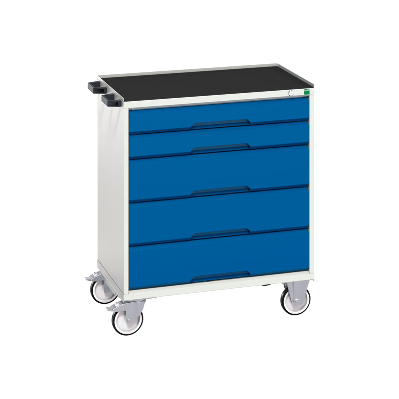Verso Mobile Cabinet - 800mm Wide, 5 Drawer