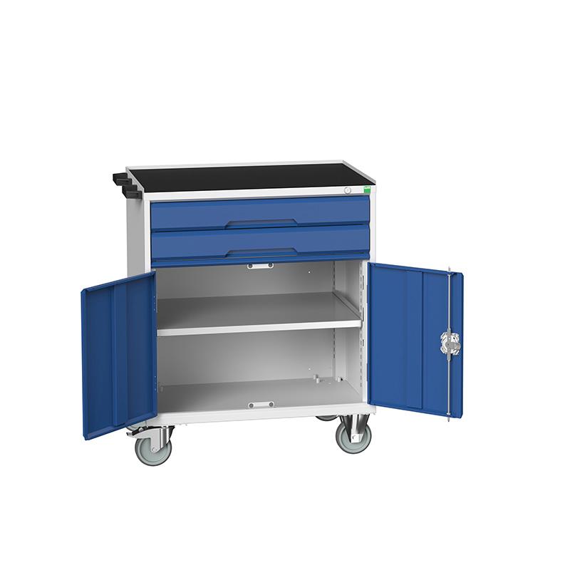 Verso Mobile Cabinet - 800mm Wide, 2 Door Cupboard, 2 Drawer