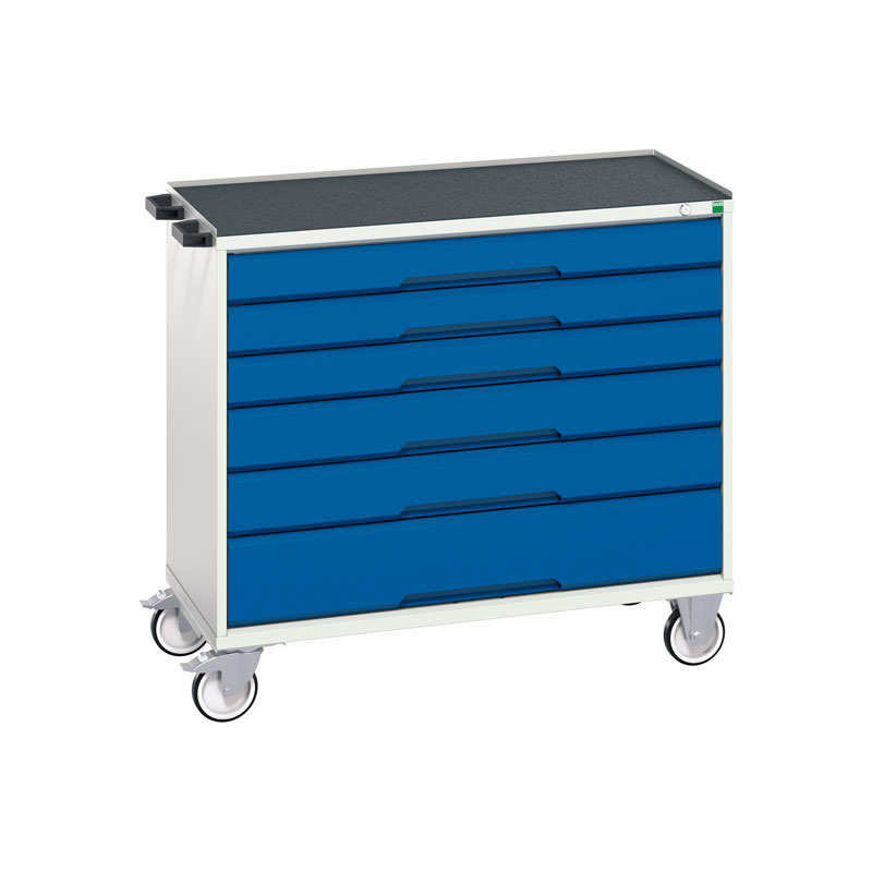 Verso Mobile Cabinet - 1050mm Wide, 6 Drawer