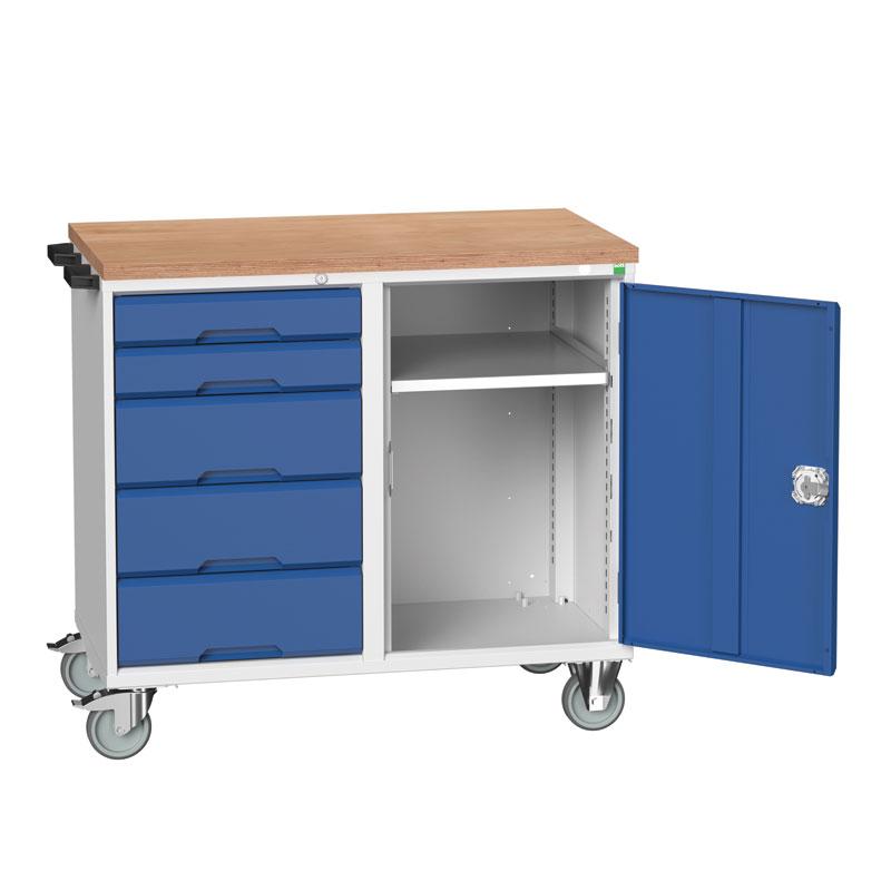 Verso Maintenance Trolley - Cupboard , 5 Drawers