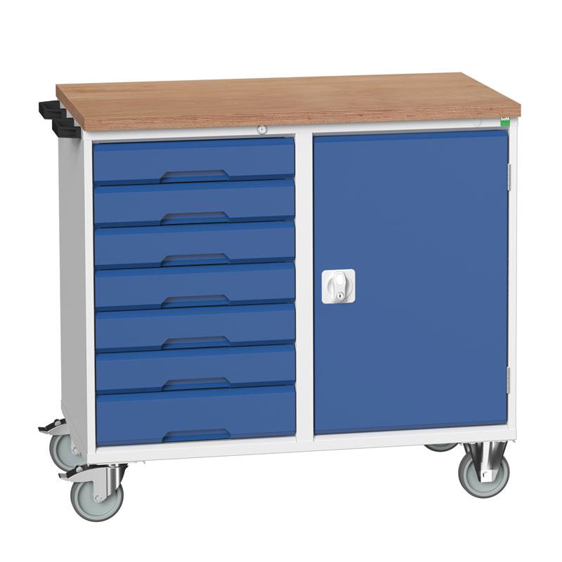 Verso Maintenance Trolley - Cupboard, 7 Drawers