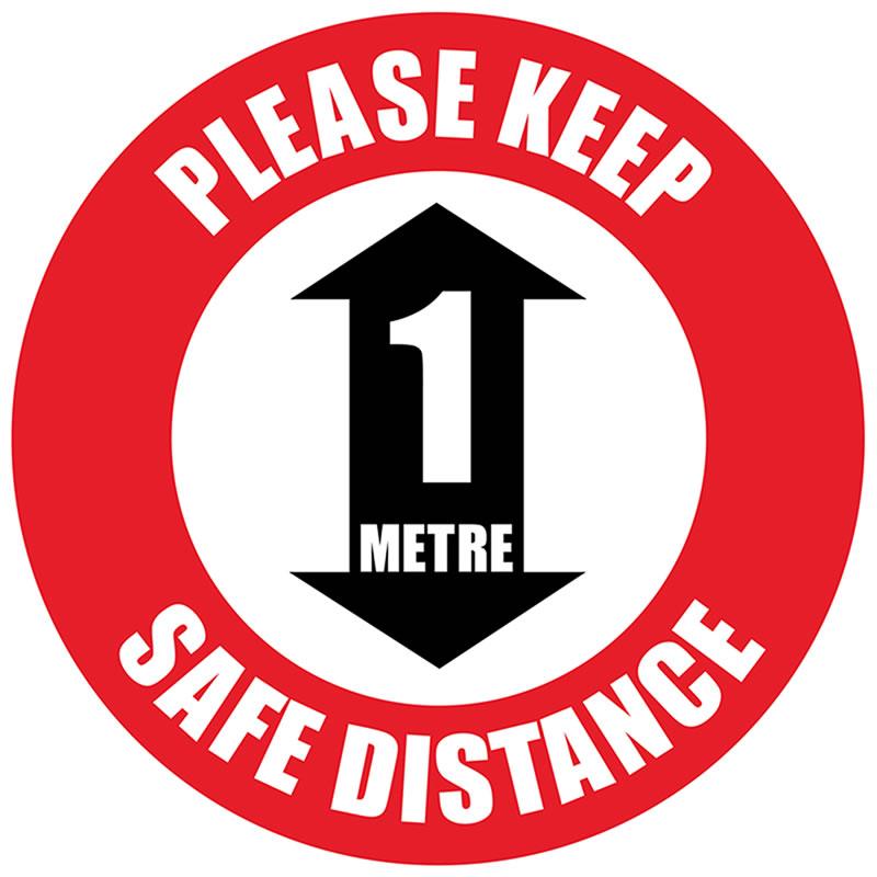 Floor Marker - Please Keep 2M Distance