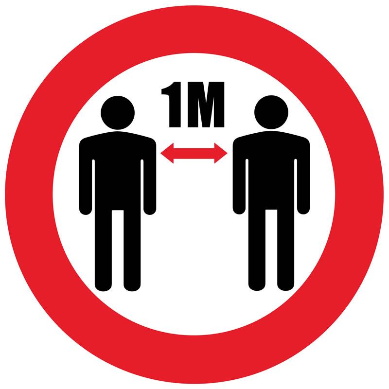 Floor Marker - Please Keep 2M Distance, graphic