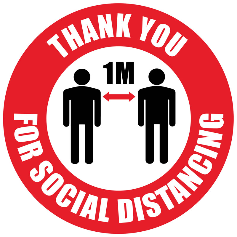 Floor Marker - Thank You For Social Distancing