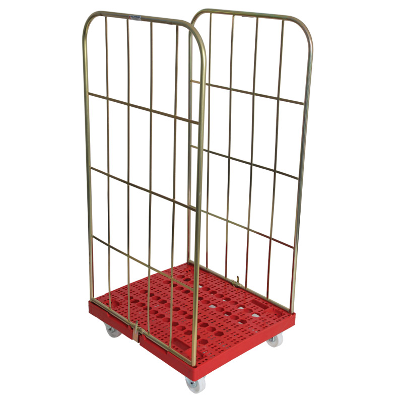 Demountable Roll Container - 2 Sided with Plastic Base