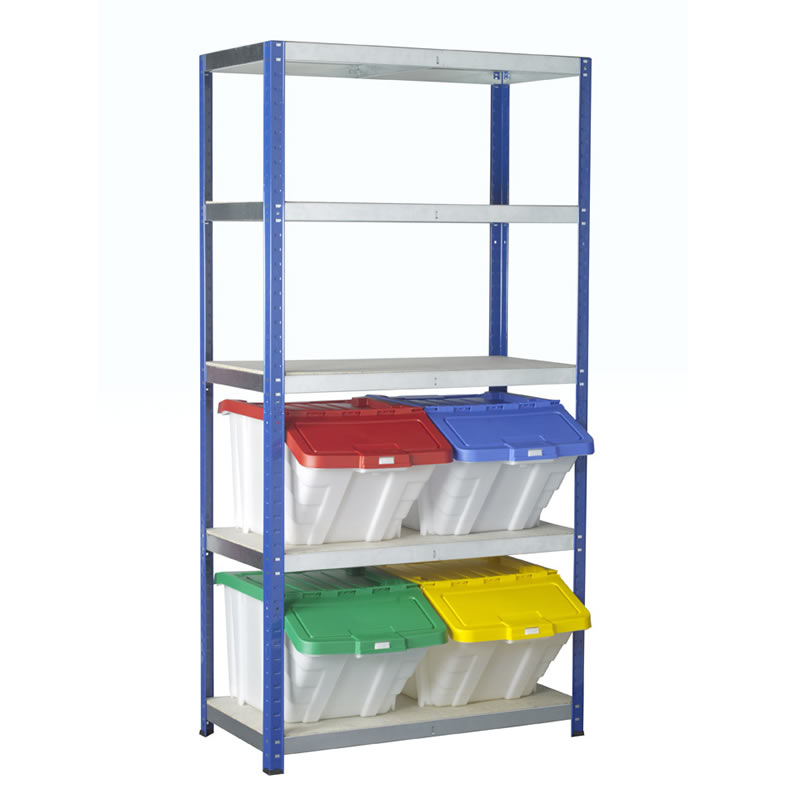 Eco-Rax Boltless Shelving with Multi-Functional Container Kits