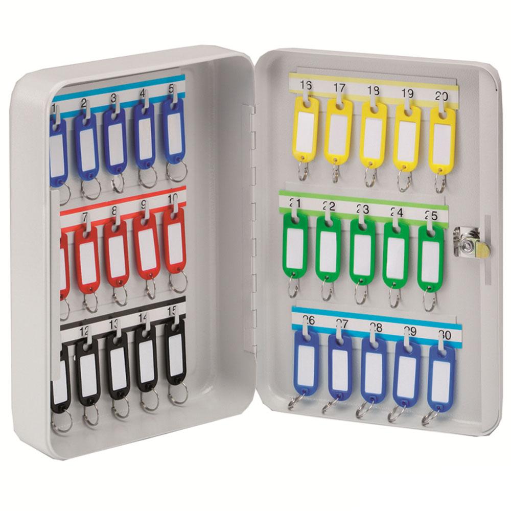 KEYSTOR - 30 Hook Key Cabinet
