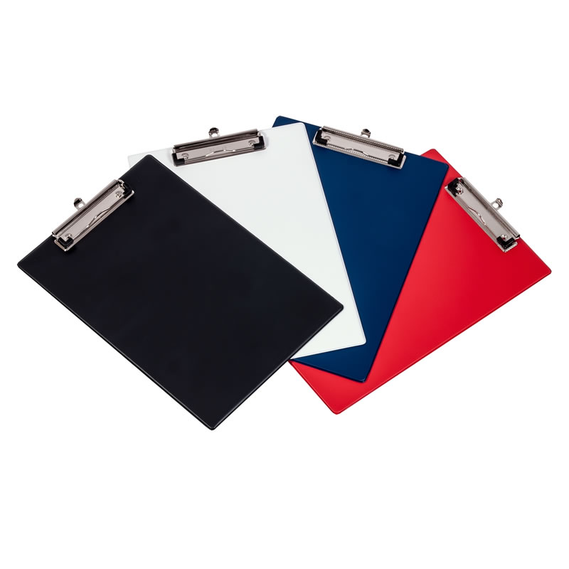 A4 Flexible Clipboard with Semi Ridged Core - Pack of 3