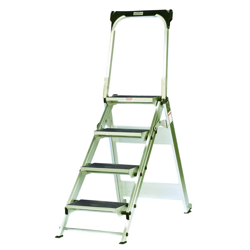 Aluminium Easy Slope Folding Step - 4 Tread