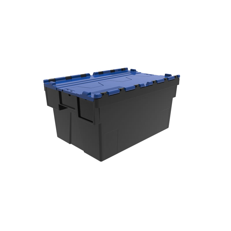 Attached Lid Container - Recycled Base - Virgin Lid - 56 Litre