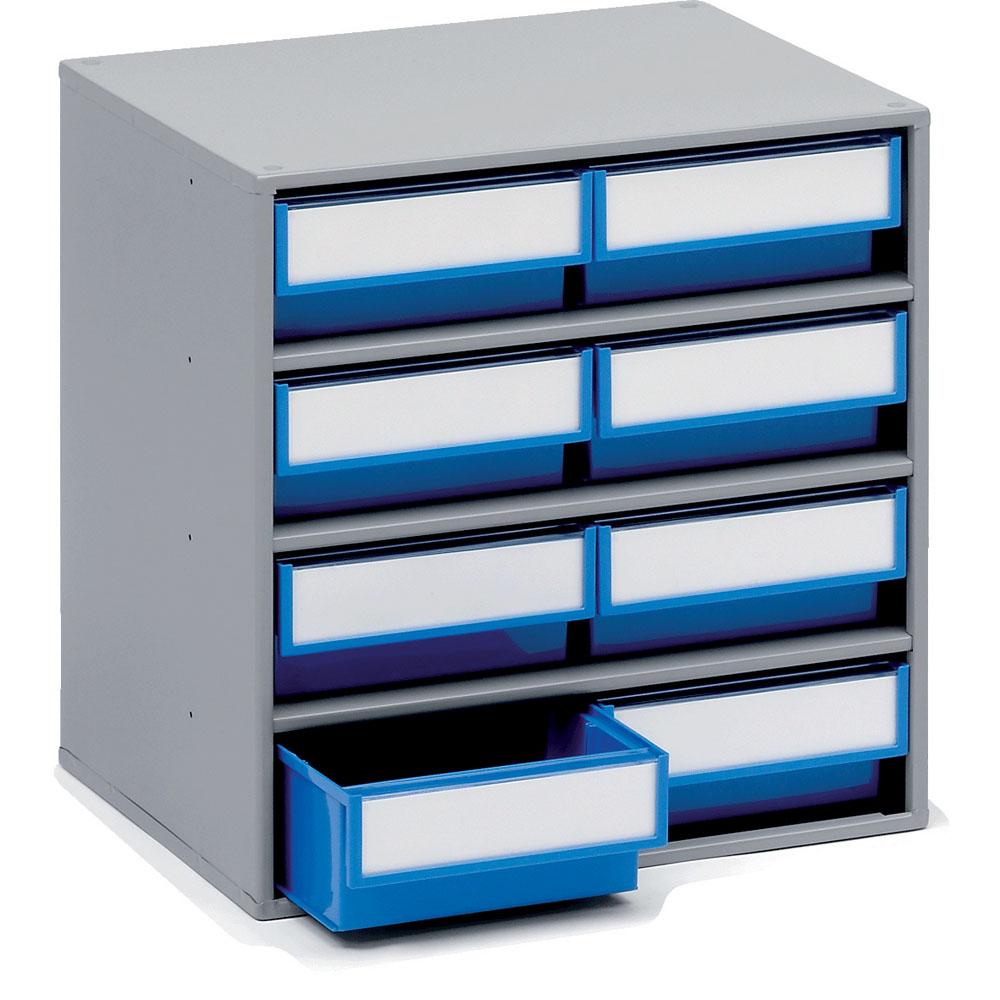 Coloured Bin Cabinets - 400mm(w) x 300mm(d) - 8 Bins