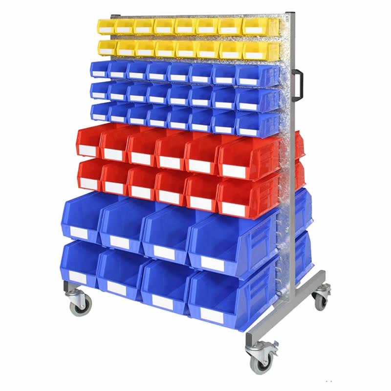 Bin Trolley with 144 Storage Bins