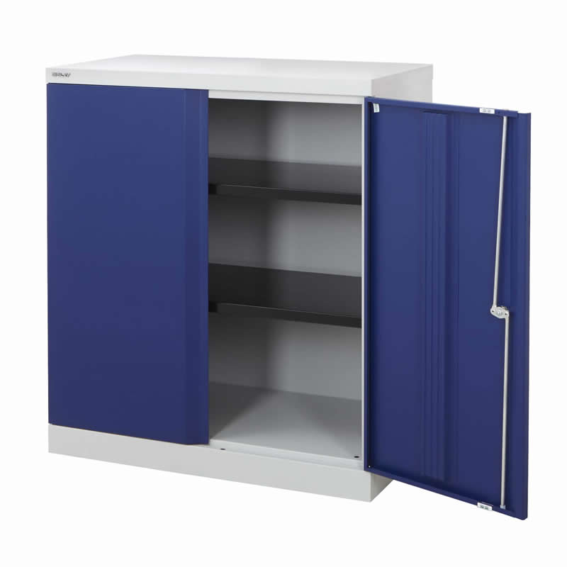 Bisley Office Cupboards - 1016 High with 2 Shelves