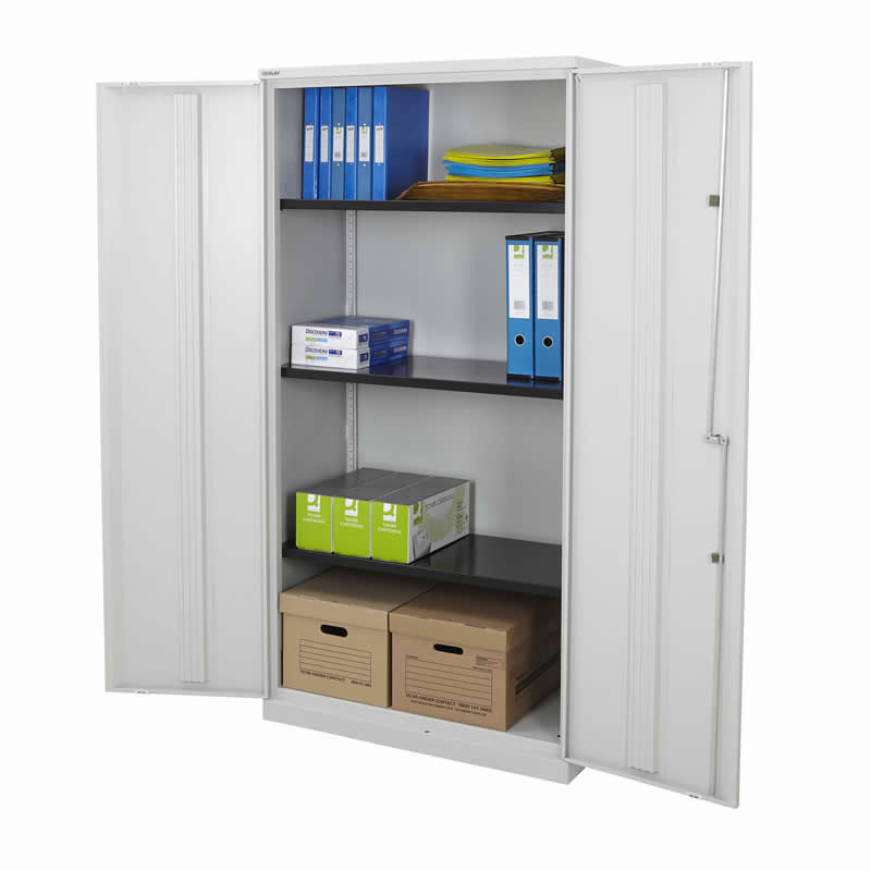 Bisley Office Cupboards - 1800 High with 3 Shelves
