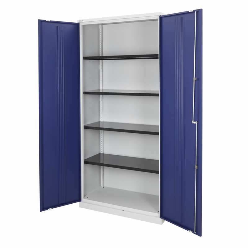 Bisley Office Cupboards - 1970 high with 4 Shelves