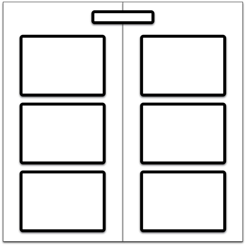 Magnetic Display Board with 6 x A3 Magnetic Frames for Documents
