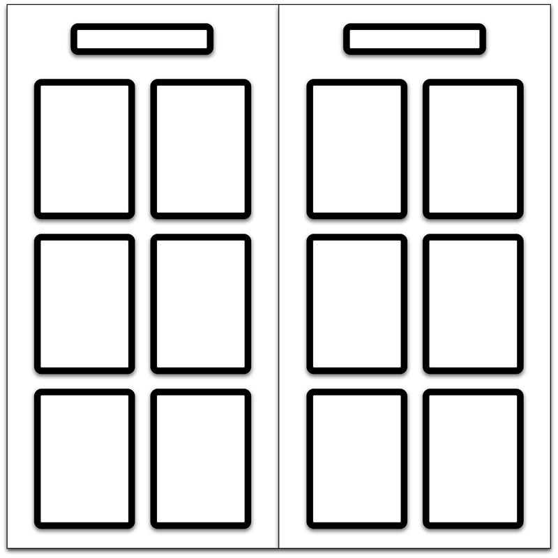 Magnetic Display Board with 12 x A4 Magnetic Frames for Document